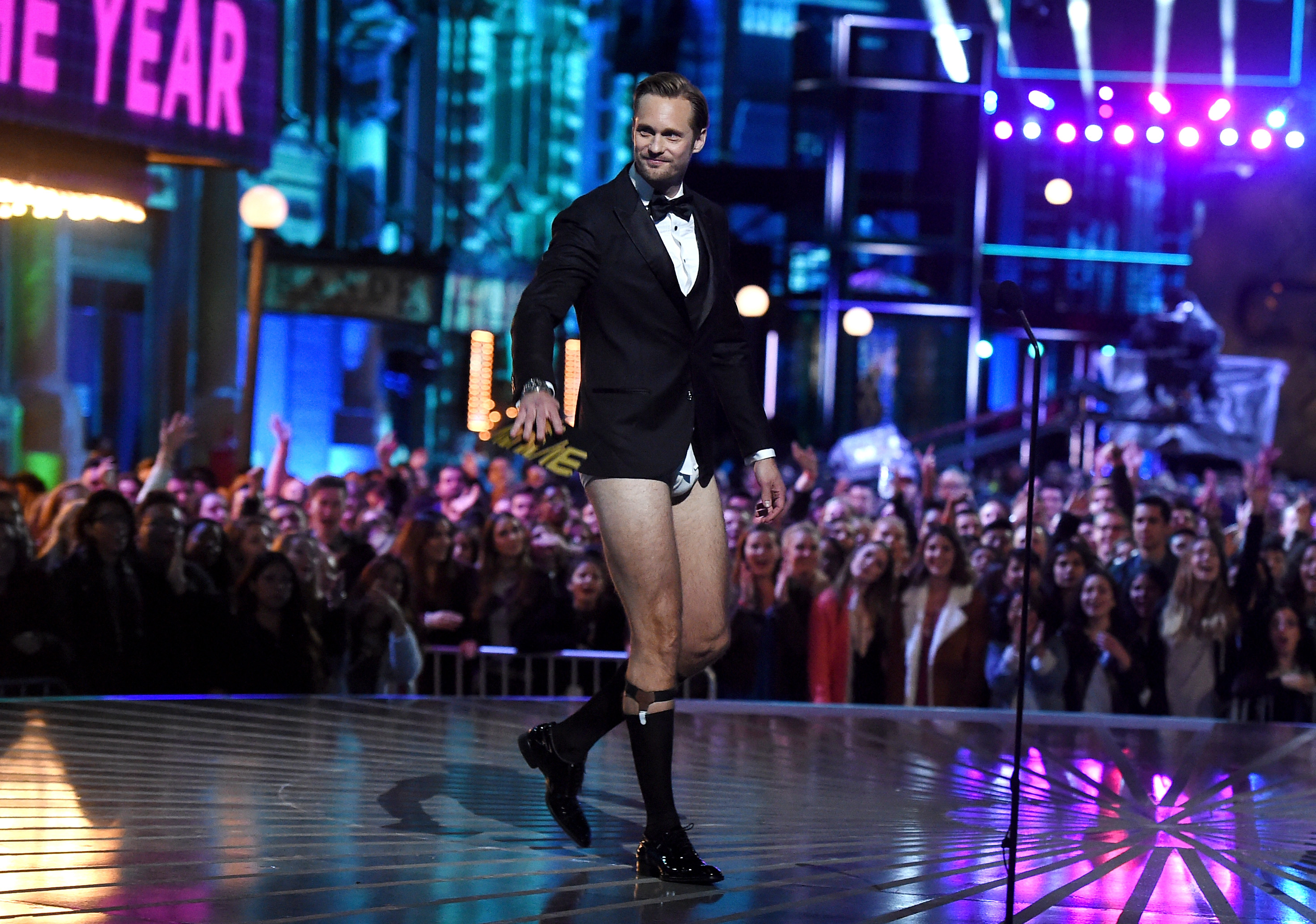 onstage during the 2016 MTV Movie Awards at Warner Bros. Studios on April 9, 2016 in Burbank, California. MTV Movie Awards airs April 10, 2016 at 8pm ET/PT.