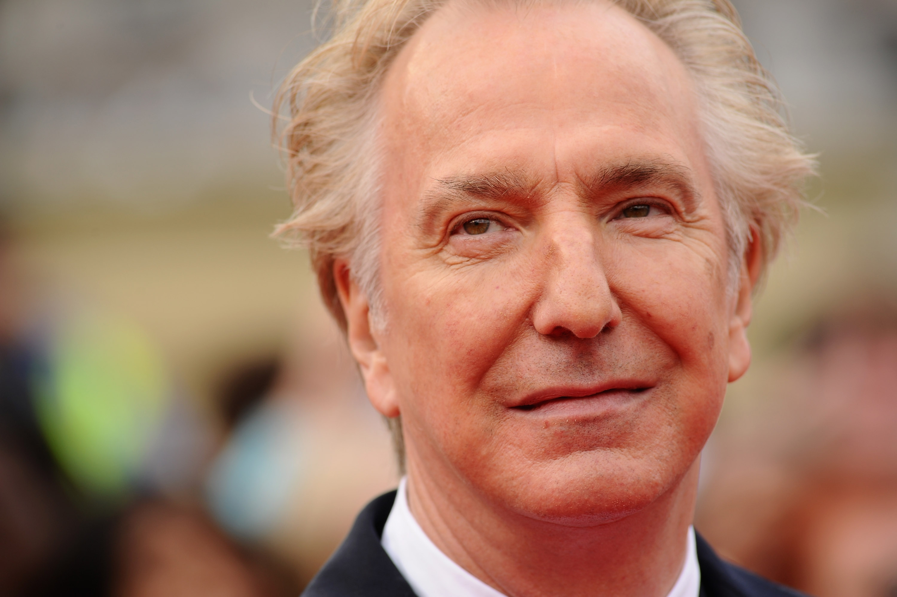 LONDON, ENGLAND - JULY 07: Alan Rickman attends the World Premiere of Harry Potter and The Deathly Hallows - Part 2 at Trafalgar Square on July 7, 2011 in London, England. (Photo by Ian Gavan/Getty Images)