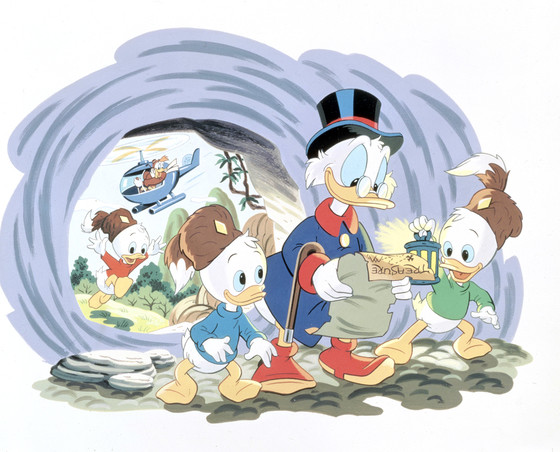 "DUCKTALES - An all-new ""DuckTales,"" an animated comedy series based on the Emmy Award-winning series treasured by a generation of viewers, has been ordered for launch in 2017 on Disney XD channels around the world. Set to be produced by Disney Television Animation, the new series will again star Disney's enduringly popular characters: Scrooge McDuck, his grandnephews Huey, Dewey and Louie, and Donald Duck. (Disney XD) ARCHIVAL PHOTO"
