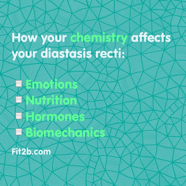 How your chemistry affects your diastasis recti - fit2b.com