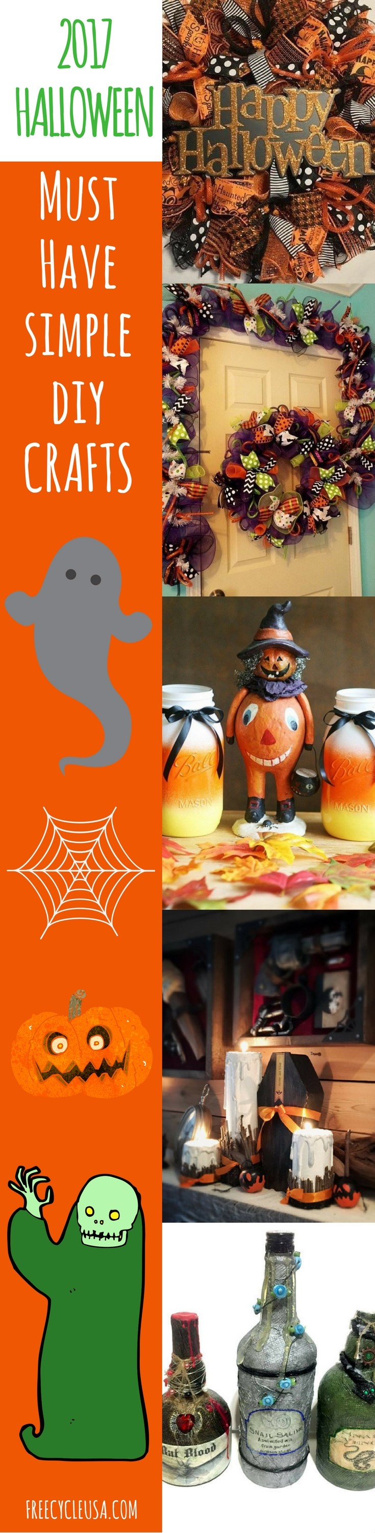 My 5 Best Diy Halloween Decorations For 2017 Freecycle Usa