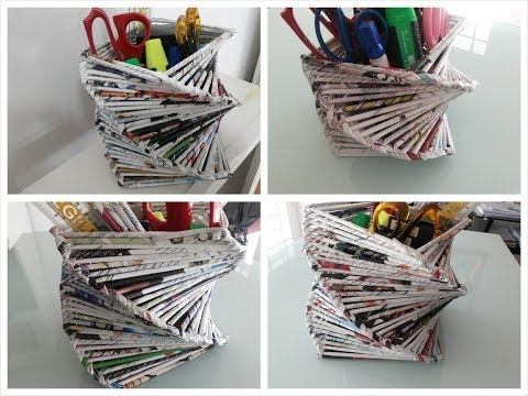 Do It Yourself Space Or Dwelling Decoration Recycled Outdated Magazine