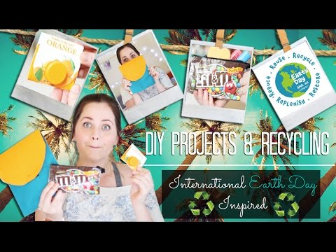 Do-it-yourself Recycling Tasks: Worldwide Earth Day Influenced   Do-it-yourself Projetos de Reciclagem