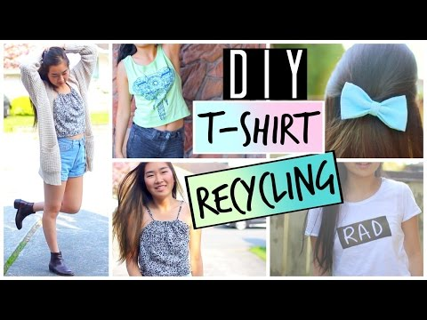 Do it yourself Approaches to Freecycle, Upcycle and Recycle Aged T-Shirts and Clothes