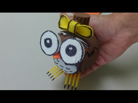 Do-it-yourself Crafts: Sweet Owl – Recycled Bottles Crafts