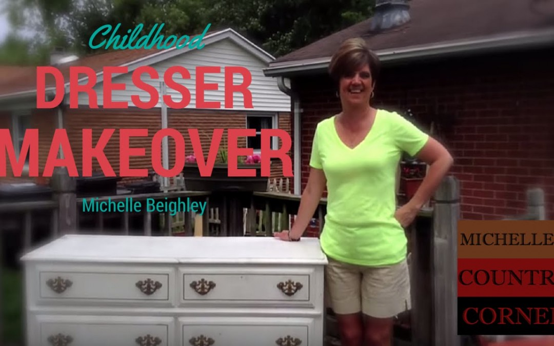 Do-it-yourself Childhood Dresser Makeover to Television Console