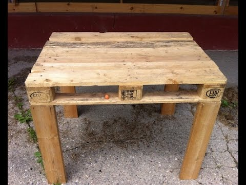 Pallet Desk (quick to make Do-it-yourself)