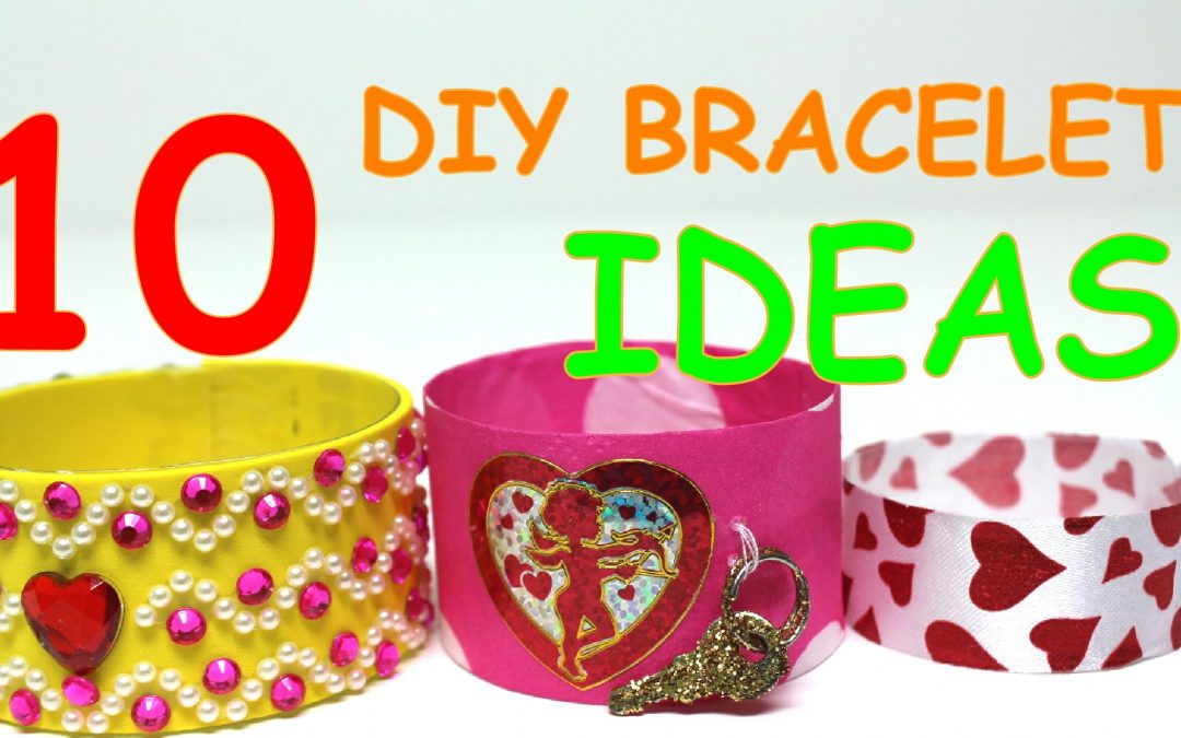 10 DIY Valentines Day Bracelets Ideas for Kids Recycling Art by Recycled Bottles Crafts