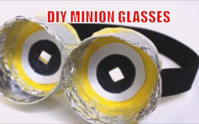 DIY Recycled Crafts How to Make Funny MINION Glasses Recycled Bottles Crafts