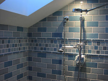 Beautifully tiled shower