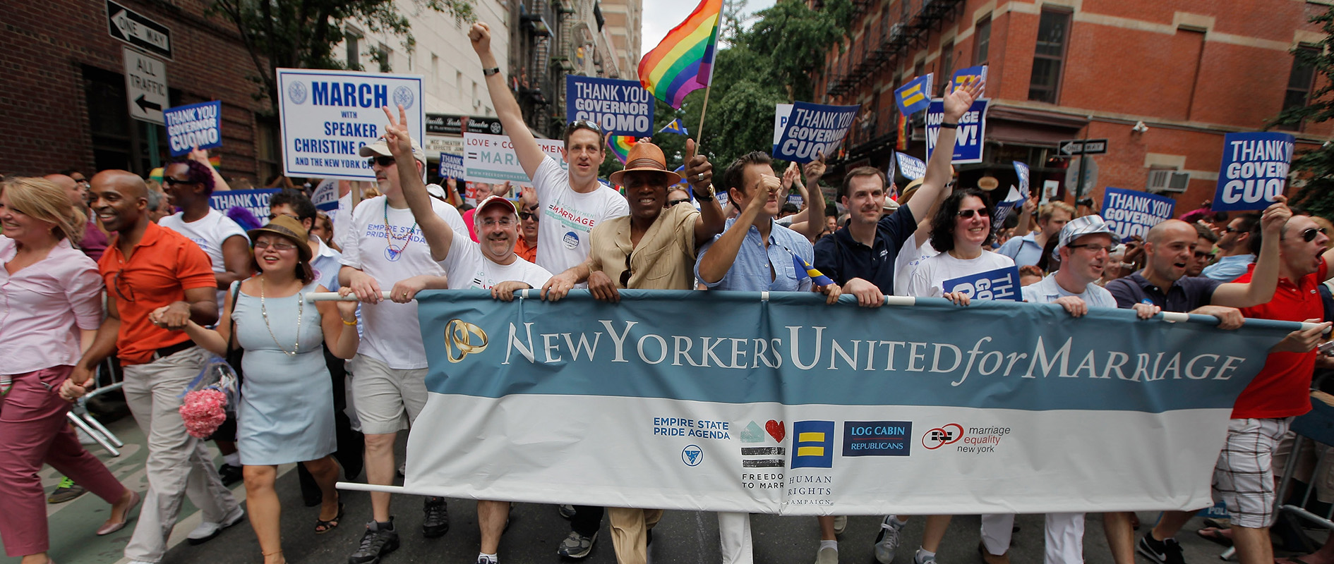 The New Yorkers United for Marriage team celebrating in New York City Pride, 2011