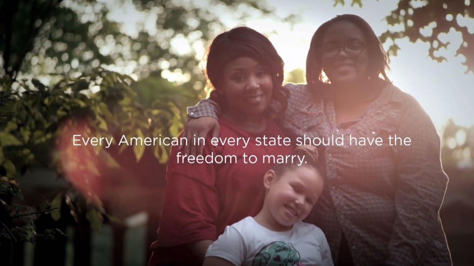One of our videos was shot in Birmingham, Alabama, featuring a gorgeous family who needed the freedom to marry at home. The video was converted into a 30-second TV ad following a federal judge's order in favor of marriage for same-sex couples in Alabama.
