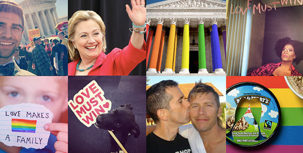 Freedom to Marry's #LoveMustWin campaign generated actions from thousands of Americans, including Hillary Clinton, Justin Mikita, Ben & Jerry's, and thousands of other supporters.