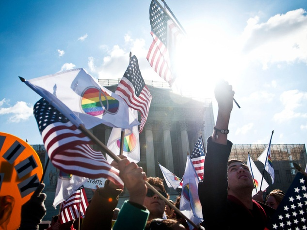 Thousands of supporters of the freedom to marry gathered outside of the nation's highest court on March 27 and 28, 2013 to cheer on the plaintiffs and take a public stand for marriage for all.