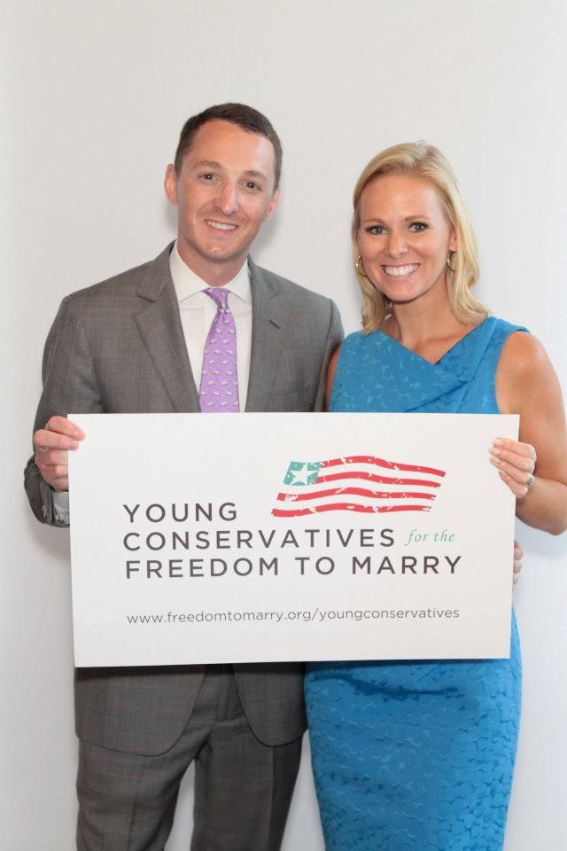 The Young Conservatives for the Freedom to Marry leadership team included representatives from across the country, including Torrey Shearer and Margaret Hoover.