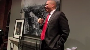 Newark Mayor Cory Booker at NYC Reception