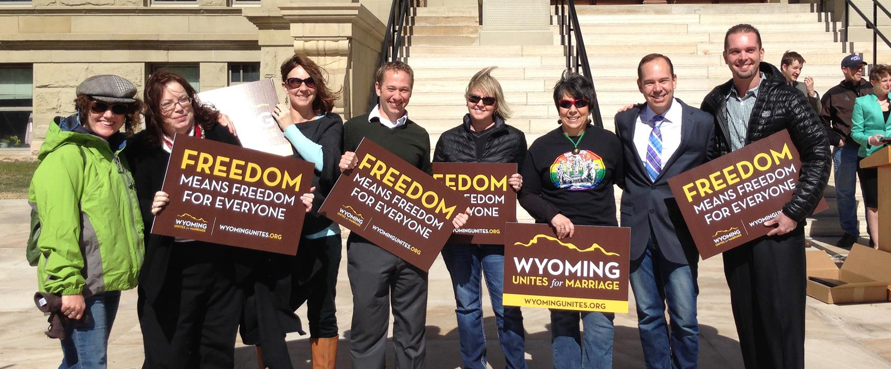 In 2014 Freedom to Marry worked with state and national partners to build Wyoming Unites for Marriage, which helped make the case for the freedom to marry in Wyoming.