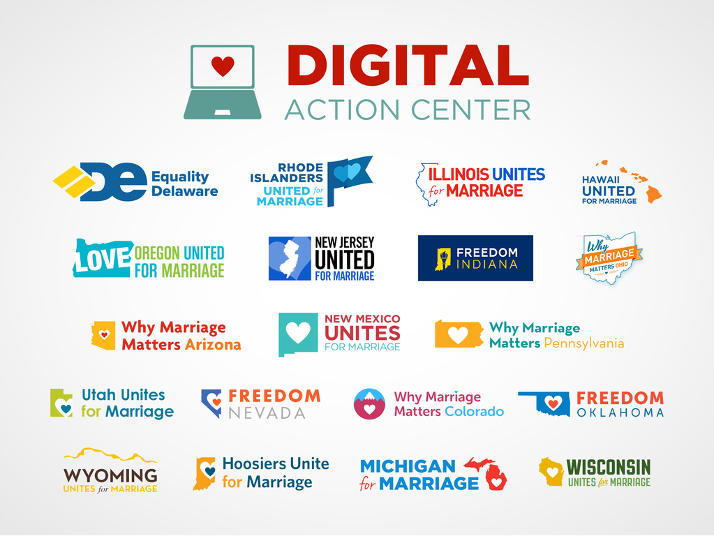 The Digital Action Center launched and ran day-to-day activities online for dozens of marriage campaigns between 2010 and 2015.
