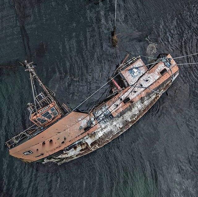 aerial images of shipwrecks