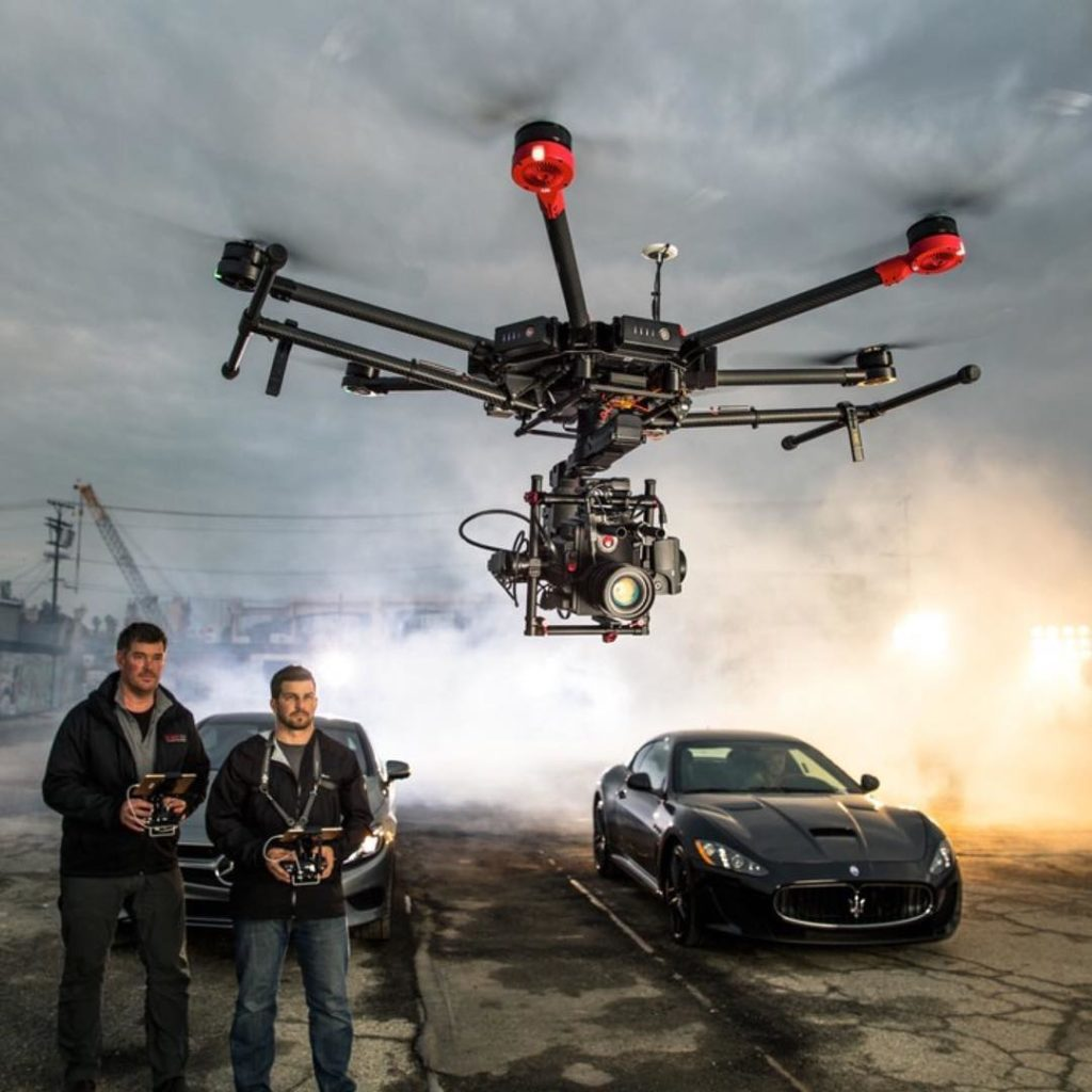 Drones have found their way onto movie sets (Image: @DJIGlobal)