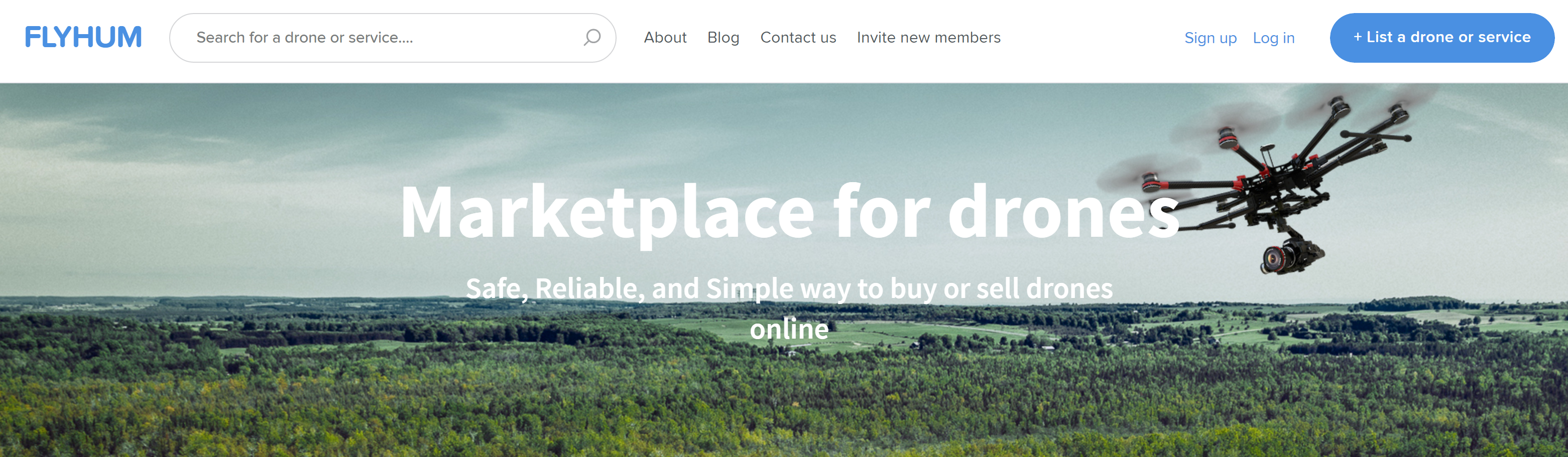 Flyhum is a drone marketplace where pilots can buy and sell used drones.