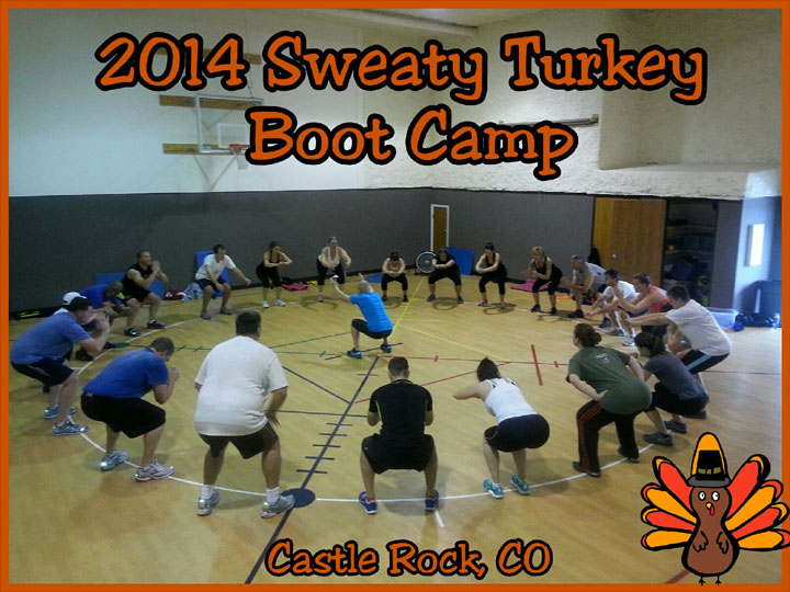 Annual Sweaty Turkey Boot Camp in Castle Rock 2014