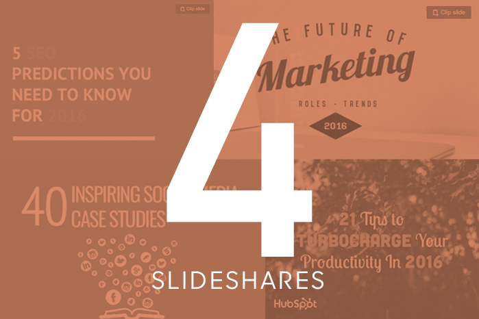 4 Slideshares to Kickstart 2016