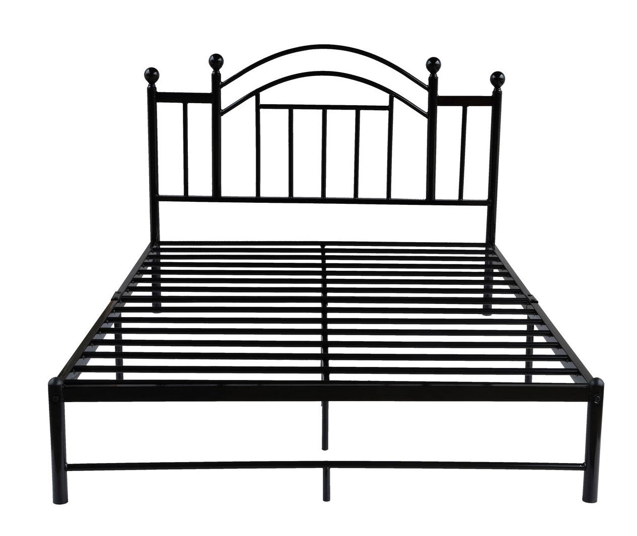 Black Metal Queen Platform Bed