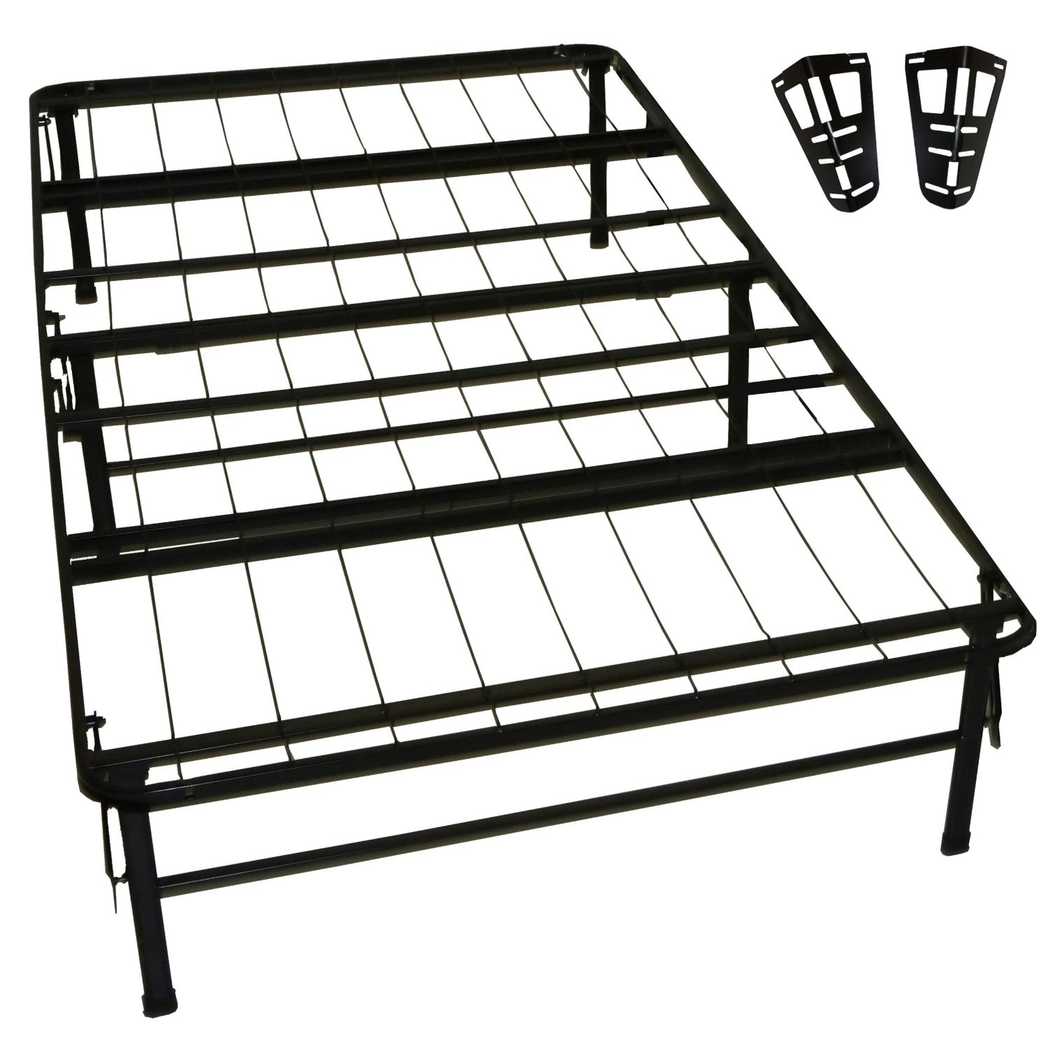 Greenhome123 twin xl metal platform bed frame with for Twin mattress and frame
