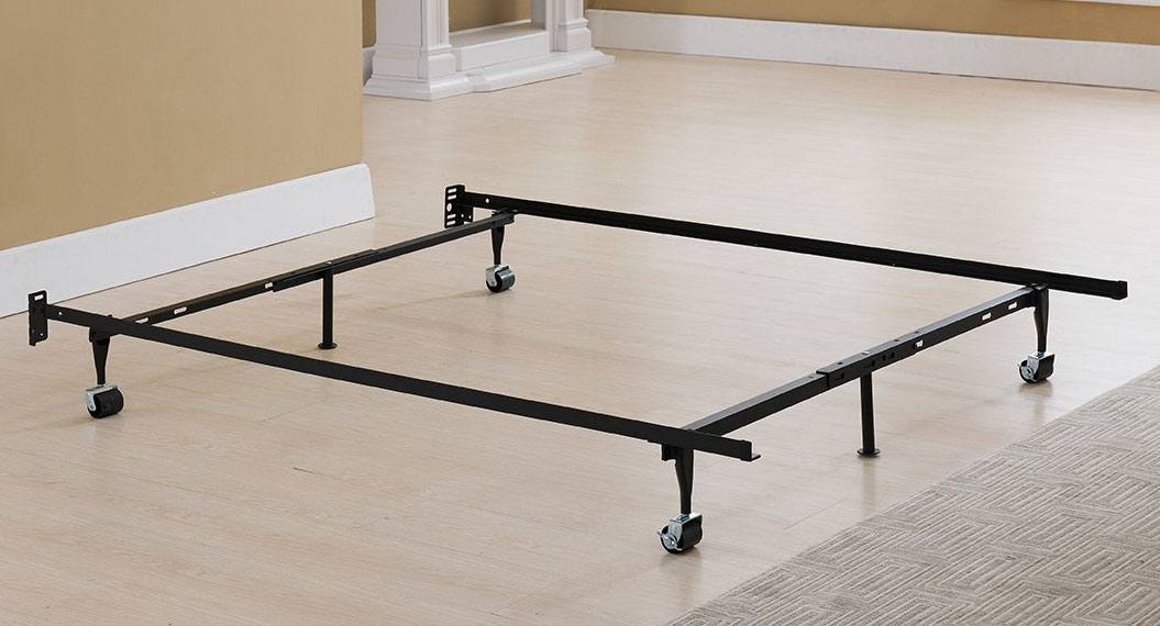 Greenhome123 Twin Xl Metal Bed Frame With 4 Rug Roller Wheels