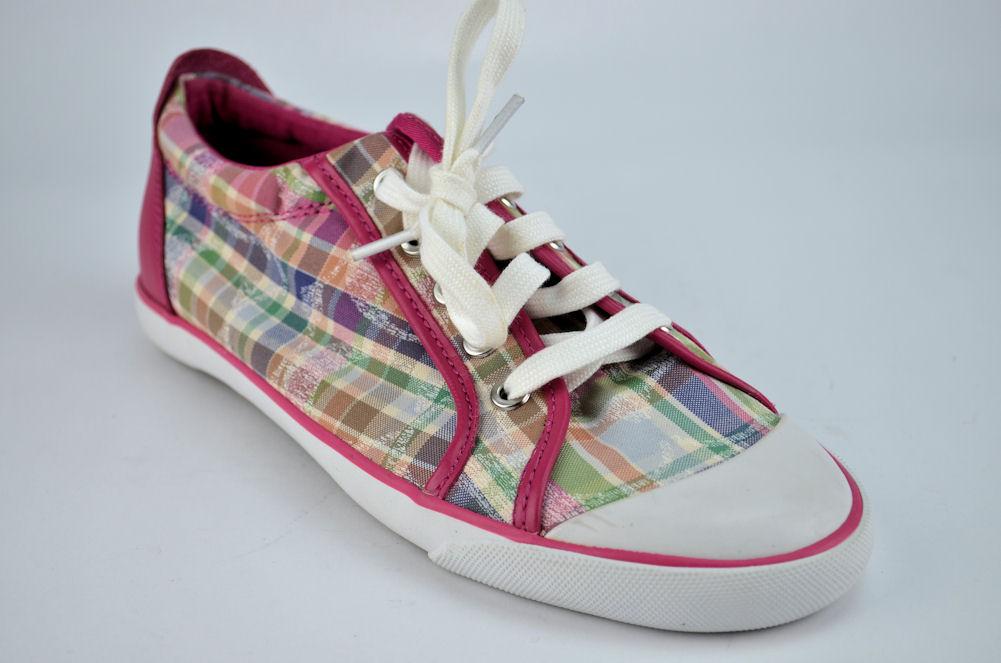 New! $98 Coach Barrett Poppy Beach Plaid Women's Pink ...