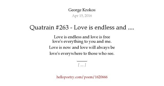 Endless love poems