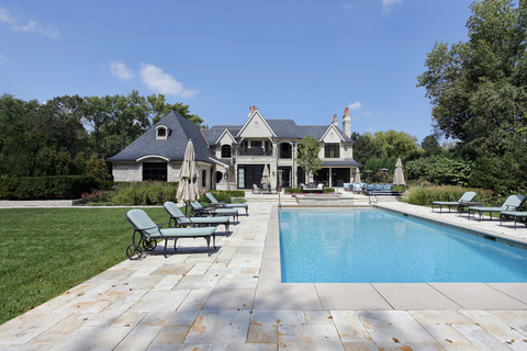 Luxury Homes Inground Pool