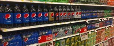 soda bottles in store