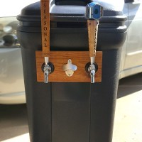 how to build a trash can kegerator
