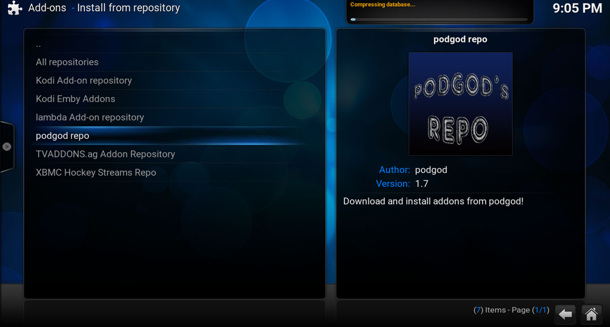 Step 9, installing the pod god repo