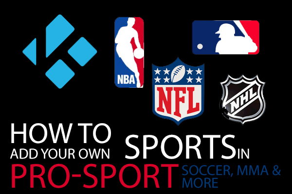 How To Add More Sports to Pro Sport in Kodi