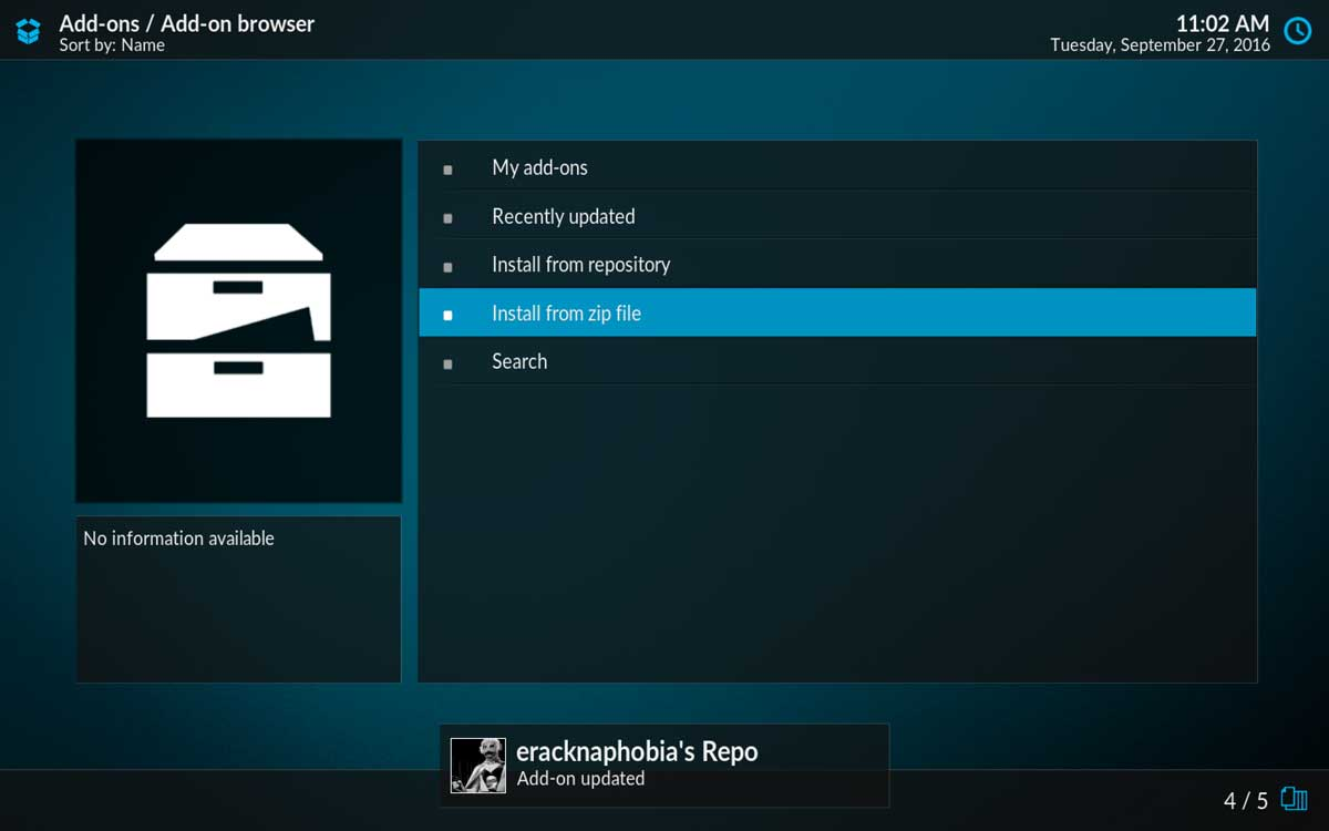 How to install NHL Streams in Kodi, step 5
