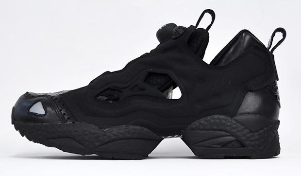 all black reebok pumps