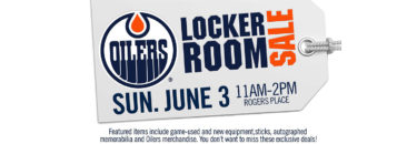 Oilers Locker Room Sale