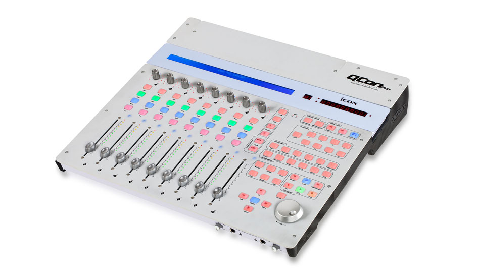 Icon qcon pro 8 fader daw control surface for Daw control surface motorized faders