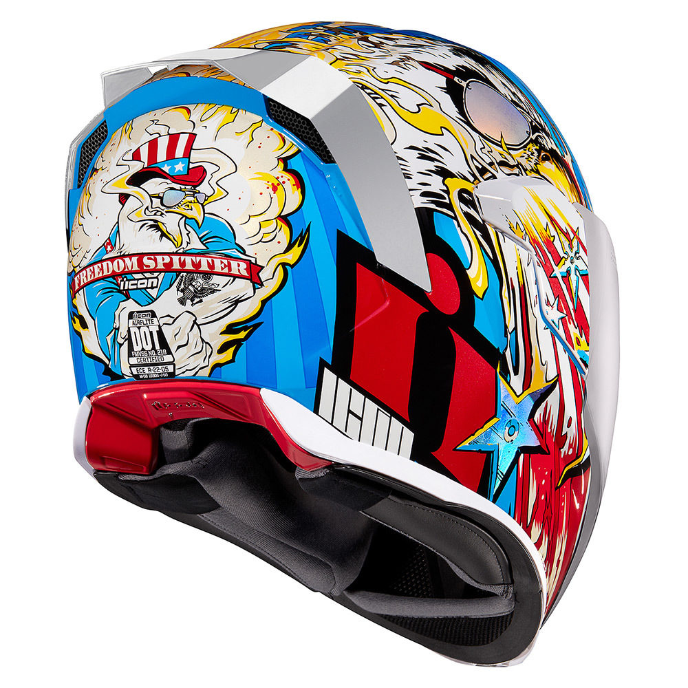 Icon Airflite Freedom Spitter Glory Motorcycle Riding Street Racing Helmet