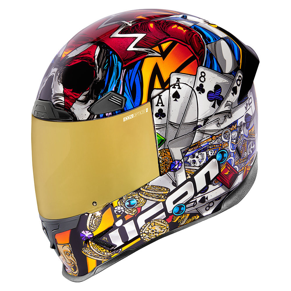 Icon Airframe Pro Lucky Lid 3 Unisex Motorcycle Riding Street Racing Helmet