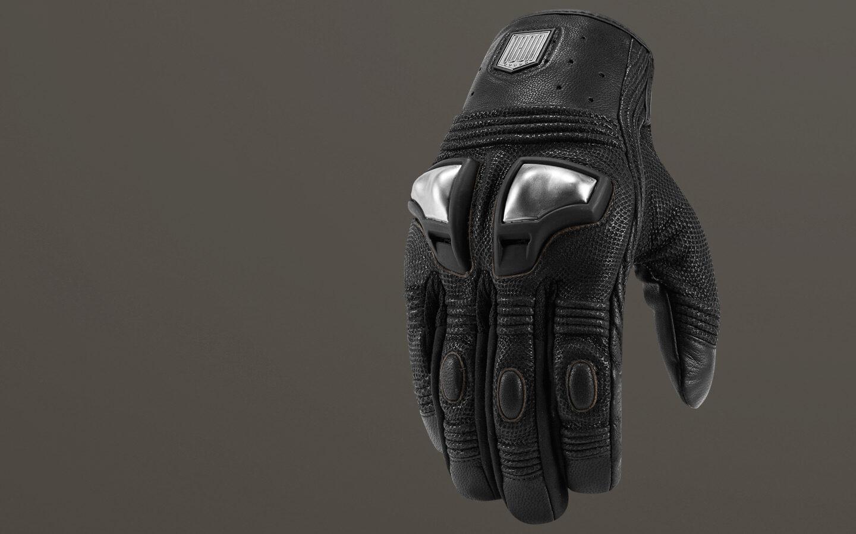 Choose Size Black ICON 1000 RETROGRADE Leather Motorcycle Gloves
