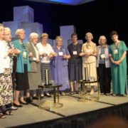 LCWR leadership pray during their 2015 national assembly in Houston. [SOURCE: LCWR]