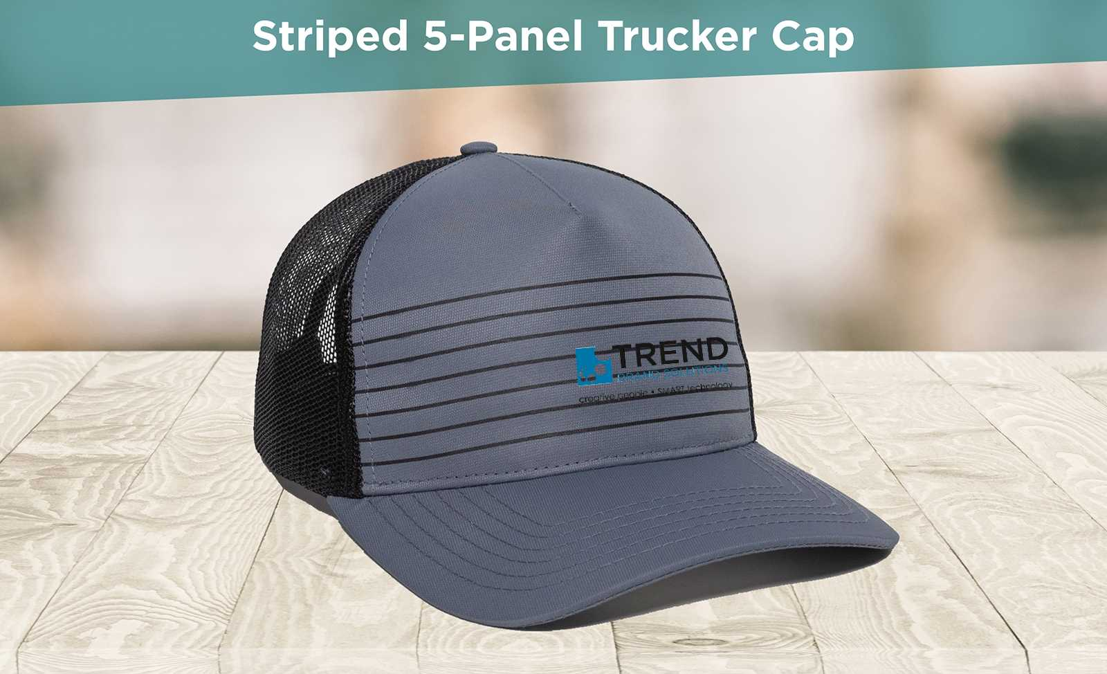 Striped Trucker Cap AIM