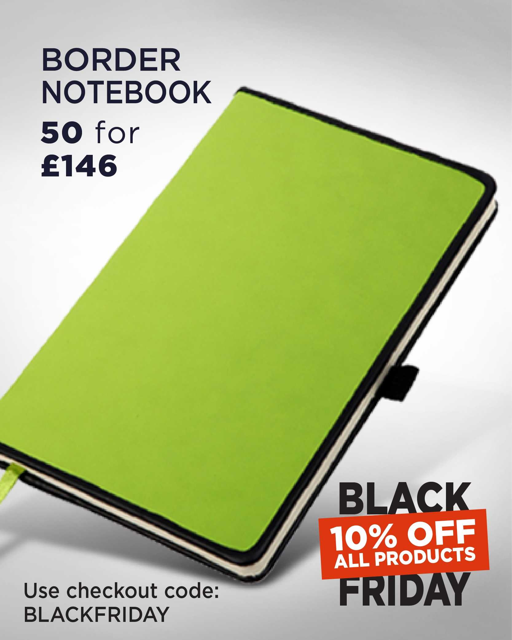 Black Friday Border Notebook