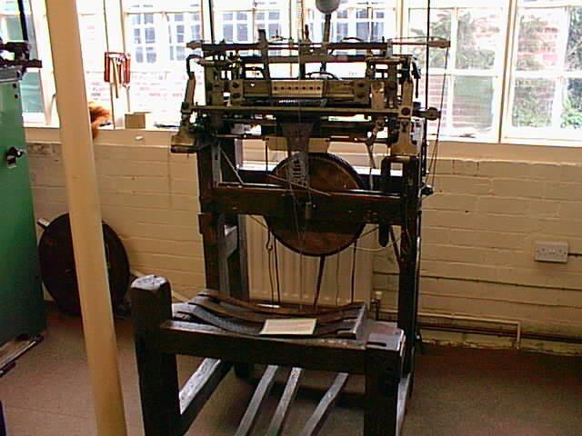 A stocking frame (a mechanical knitting machine) - Attribute to John Beniston - Wikipedia