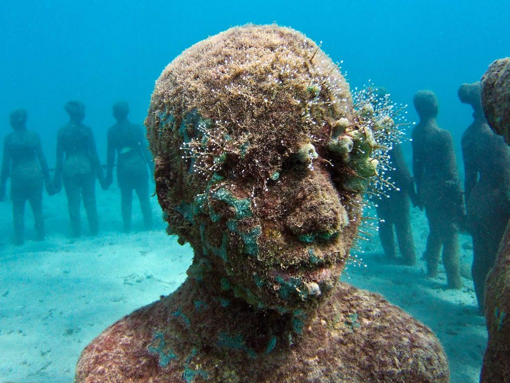 Another well-known Taylor work, Vicissitudes, can be found off the coast of Grenada. Photo: Photo: Jason Decaires Taylor