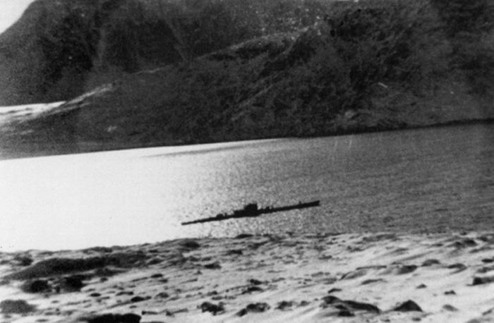 U-537 anchored in Martin Bay on Labrador Coast northern Canada